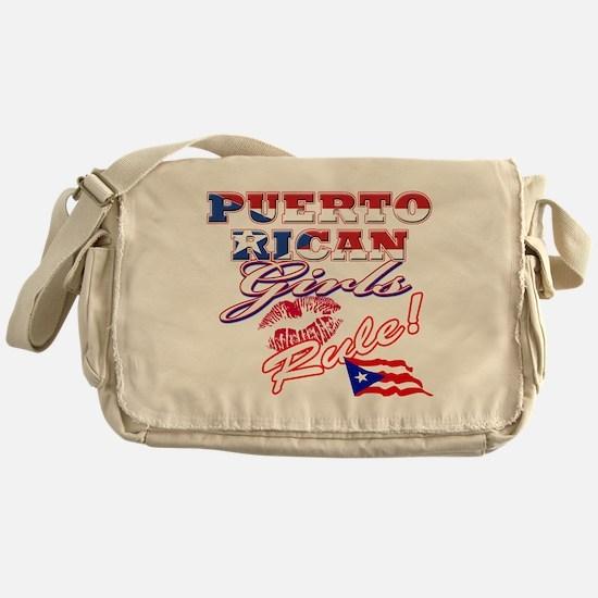 Puerto rican girl Messenger Bag