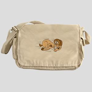 Funny Ramming Ram Messenger Bag