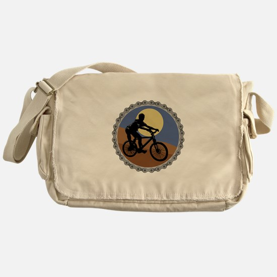 Mountain Bike Chain Design Messenger Bag