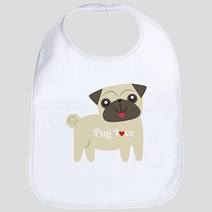 Pug Love Baby Bib
