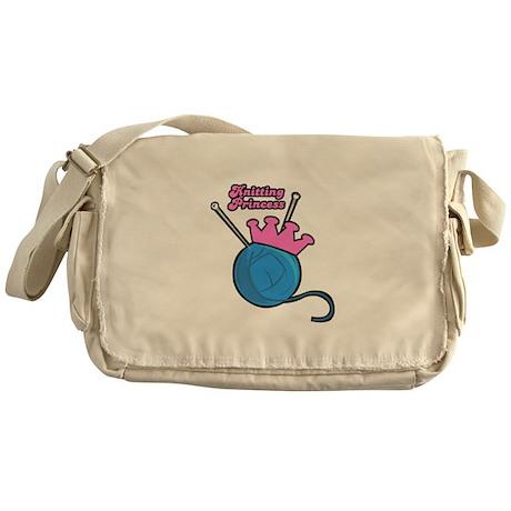 Knitting Princess Messenger Bag