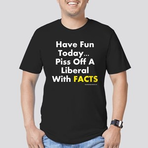 Anti-Liberal: Men's Fitted T-Shirt (dark)
