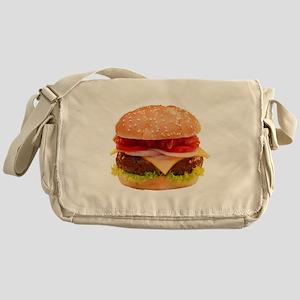 yummy cheeseburger photo Messenger Bag