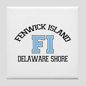 Fenwick Island DE - Varsity Design Tile Coaster