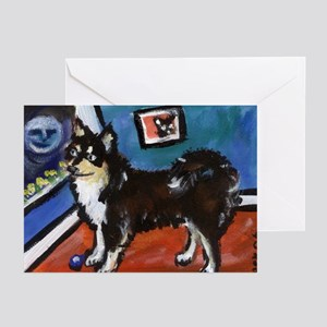FINNISH LAPPHUND moon art Greeting Cards (Package