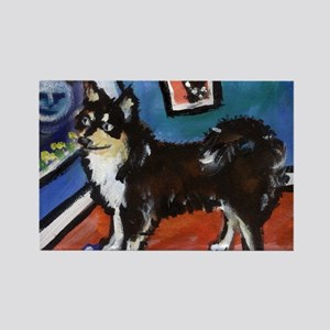 FINNISH LAPPHUND moon art Rectangle Magnet