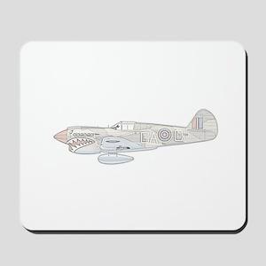 WW2 Curtiss P40E Air Plane Mousepad