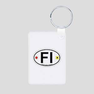 Fenwick Island DE - Oval Design Aluminum Photo Key