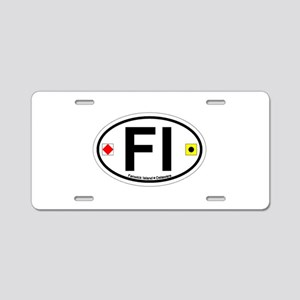 Fenwick Island DE - Oval Design Aluminum License P