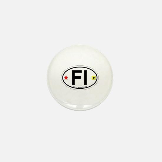 Fenwick Island DE - Oval Design Mini Button
