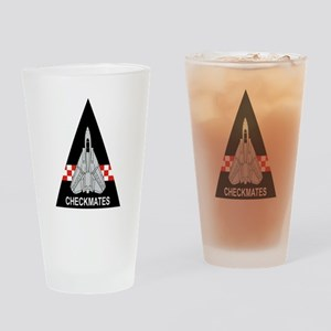 F-14 Tomcat VF-211 Checkmates Drinking Glass