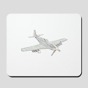 WW2 P-51 Mustang Air Plane Mousepad