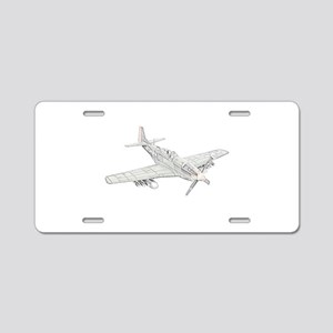 WW2 P-51 Mustang Air Plane Aluminum License Plate