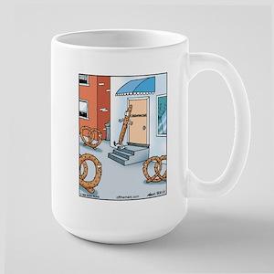 Pretzel Chiropractor Large Mug