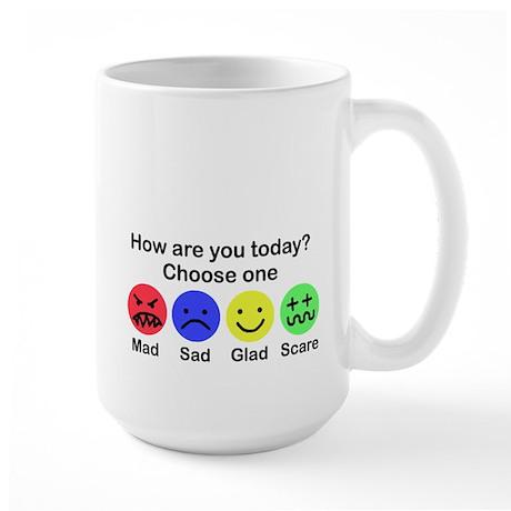 Mad,Sad,Glad & Scare Large Mug