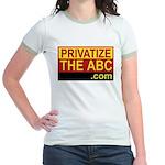 Privatize The ABC Jr. Ringer T-Shirt