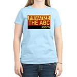 Privatize The ABC Women's Pink T-Shirt