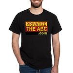 Privatize The ABC Black T-Shirt