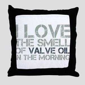 Valve Oil Throw Pillow
