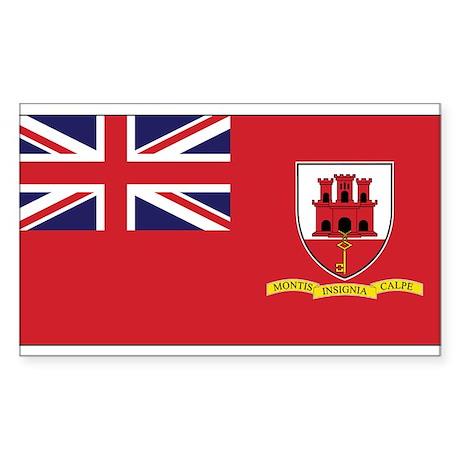 Gibraltar Civil Ensign Rectangle Sticker