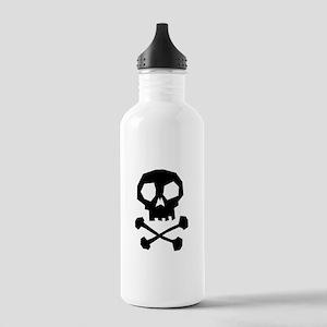 Skull Cross Bones Stainless Water Bottle 1.0L
