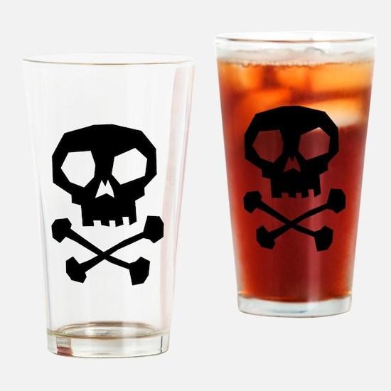Skull Cross Bones Drinking Glass