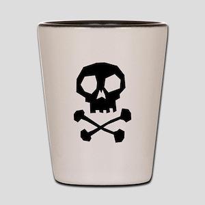 Skull Cross Bones Shot Glass