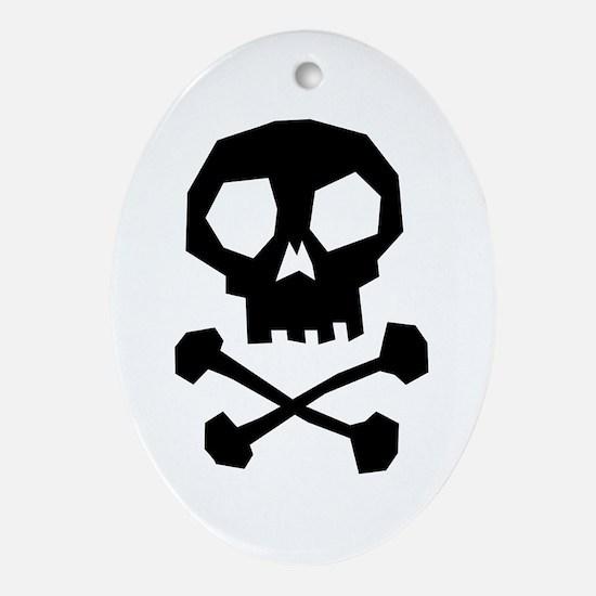 Skull Cross Bones Ornament (Oval)