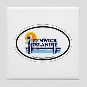 Fenwick Island DE - Oval Design Tile Coaster