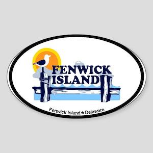 Fenwick Island DE - Oval Design Sticker (Oval)