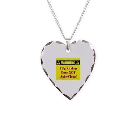 Warning: No Auto-Clean Necklace Heart Charm