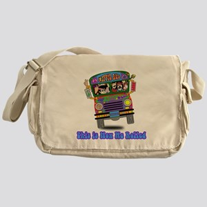 Hippie School Bus Messenger Bag