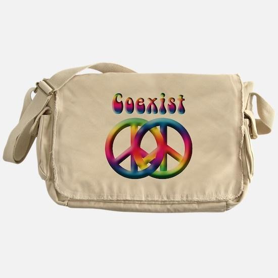 Coexist Peace Sign Messenger Bag