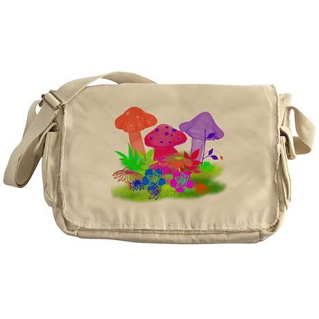 Magic Mushrooms Messenger Bag