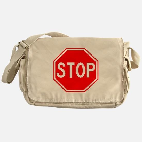 Stop Sign Messenger Bag