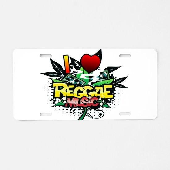 I Heart Reggae Music Aluminum License Plate