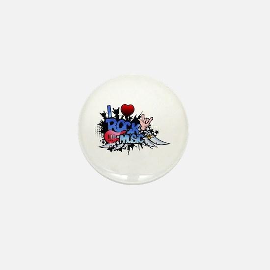 I Heart Rock Music Mini Button