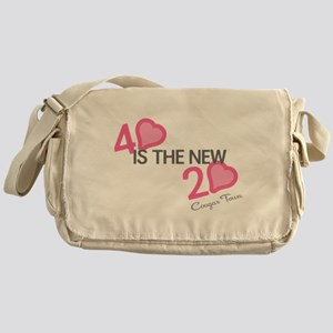 Heart 40 is the New 20 Messenger Bag