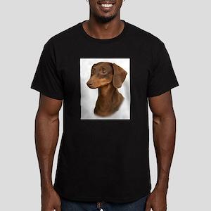 Dachshund 9Y420D-379 Men's Fitted T-Shirt (dark)