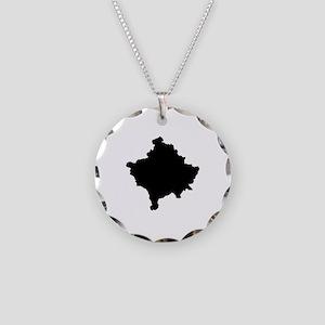 Kosovo Map Necklace Circle Charm