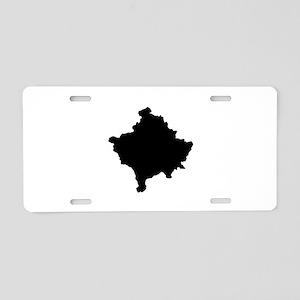 Kosovo Map Aluminum License Plate