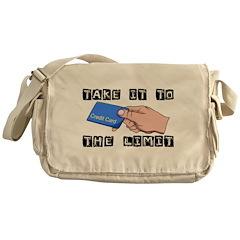 Credit Card Limit Messenger Bag