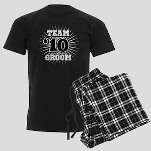 Black 10 Team Groom Men's Dark Pajamas
