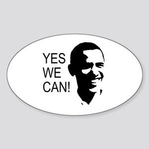 Obama's Face: Sticker (Oval)