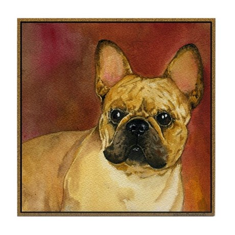 french bulldog height french bulldog tile coaster by allamericanpaws 1874