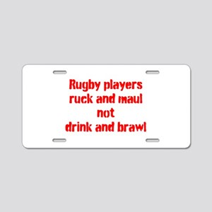 Ruck and maul Aluminum License Plate