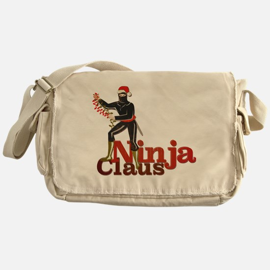 Ninja Claus Messenger Bag