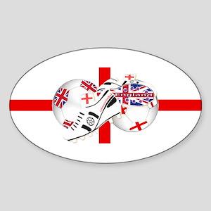England Football Team Sticker (Oval)