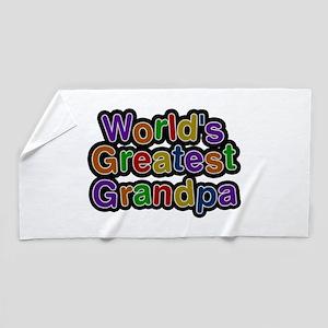 World's Greatest Grandpa Beach Towel