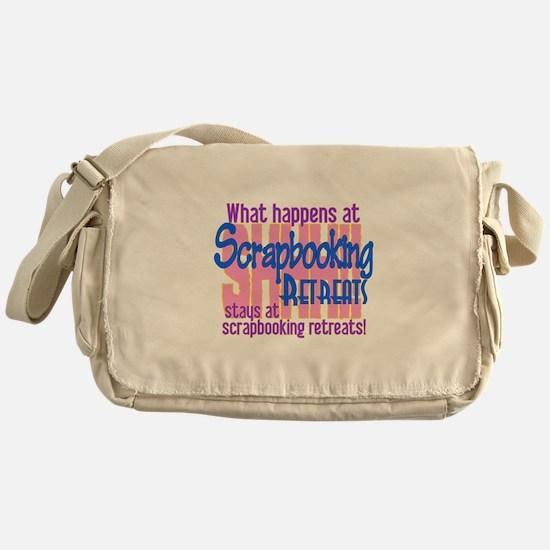 Scrapbooking Retreats Shhh! Messenger Bag